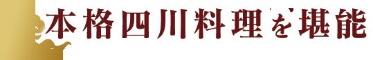 本格四川料理を堪能